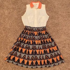 MAISON JULES Geometric Print Dress